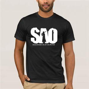 Качество Мода Мужчины Tshirt Sao Sword Art Online пуловер Hoodie Толстовки Sword Art Online Hoodies людей способа T-Shirt