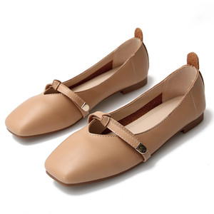 Genuine Leather Shoes Women Korean Style Women Loafers Fashion Creepers Ladies Flat Shoes Luxury Designers