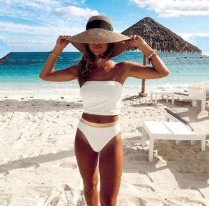 Fashion Women Sexy Print Bikini Tankini Set Brazilian Bikini Push Up Padded Swimwear Female Split Swimsuit Beachwear