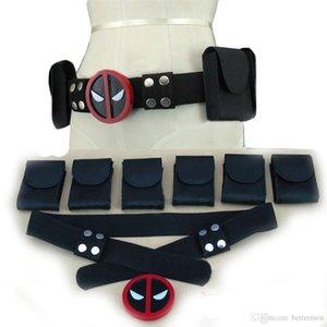 Deadpool Costume Cosplay X-Men Superhero metal Belt buckle adjustable Accessories Costume Anime Movie Cosplay Props