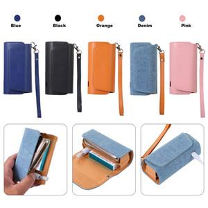 Neue elektronische Schutzhülle Halter Carrying Aufbewahrungsbehälter-Lanyard-Leder-Kasten-bewegliche elektronischen Zigaretten-Etui VT1408