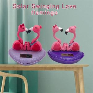 Solar Scuotere la testa bambola solare Swinging Amore Flamingo auto decorazione bambola del fumetto Interno di automobile bambini gioca il regalo 1tdd #