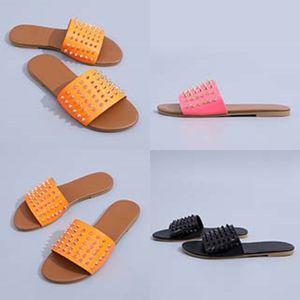 Donne Dener sandalo Flip Flops Slipper Estate Slipper Grande casuale diapositive Soes signore Fasion piatto Slipper 35-43 # 604