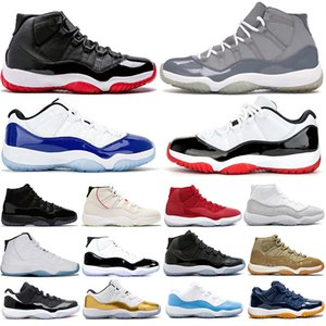 New Style Low White Bred 11 11s Concord Blue 45 men women basketball shoes Metallic Silver Cap And Gown Gamma Mens Trainers Sneakers