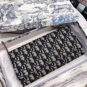 um ombro saco azul das mulheres novas corrente em torno de um círculo bordado depois da axila pode ser feito um saco de uma variedade de método de volta