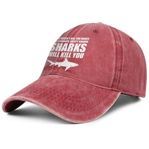 Sharks Will Kill You unisex Truck Adjustable Cowboy hat design sports fitted custom Stylish classic cowboy Shark Scuba Diving bite me Me