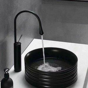 Spazio in alluminio nero rotante di goccia dell'acqua di stile rubinetto della cucina Bagno bacino Hot Cold Faucet Tap