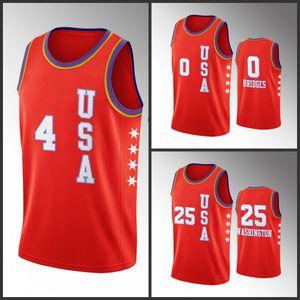 USA squadra Charlotte UomoHornetsDevonte' Graham Miles Ponti P. J. Washington 2020NBA Rising Star Jersey Red