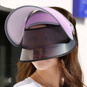 Korean ice matching sun protection hat topless hat outdoor anti UV sun visor cap