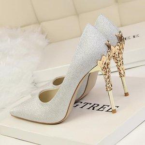 Новые ботинки женщина высоких каблуках обувь Свадебная обувь Женская насосы Женская мода Sexy Party Stiletto Бесплатная доставка