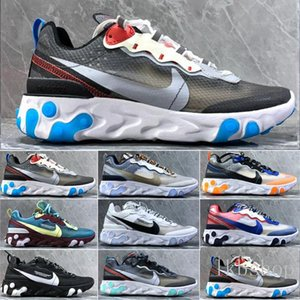 2019 New React Element 55 87 Undercover Men Women running shoes Tour Yellow Bright Blue Orange Pee mens cheap sneakers trainers shoes36-45