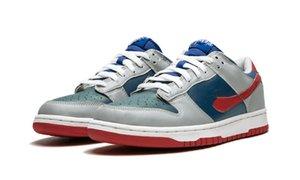 박스 크기 4-11 새로운 SB 덩크 로우 삼바 TS 샘플 트레일 끝 브라운 키즈 남성 여성 스케이트 보드 신발 야외 신발