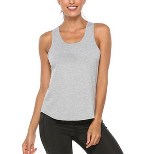 2020Women Sleeveless Workout Tank Top Hollow-out Back Loosen Yoga Fitness Vest Tops Gym Exercise Undershirts Ladies