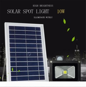 6PCS IP65 للماء 6V * 6W لوحة للطاقة الشمسية توفير البيئة 1000LM 10W استشعار الحركة الشمسية LED الكاشف أضواء ضوء مصباح