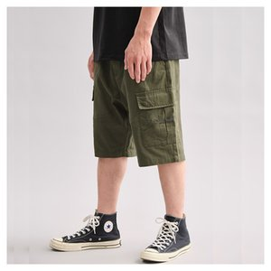 Summer 2020 new style overalls men's Casual beach pants Japanese retro loose straight pants brand men's