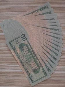 США Банкнота Америка Поддельные банкноты 20 долларов Банкноты Бумажные деньги Коллекция для дома Украшения подарков Билл поддельные валюты 001