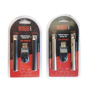 Preheat 400mAh Battery With USB Charger Double Kit E Cigarette Dab Pen Oil Cartridge Batteries For 510 Vape Carts Bogo yocan