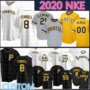 Willie Stargell Pittsburgh Pirates 2020 personnalisés Baseball Jersey Roberto Clemente Chris Archer Josh Bell a Tekulve Cervelli Parker Moran Taillon