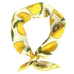 Cute Bandana for Women Neckerchief Fruits Printed Square Hair Scarf Headband Summer Accessories Personality Outfit