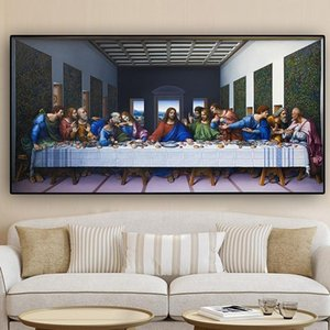 Modern Classical The Last Supper By Leonardo Da Vinci Famous Canvas Painting Christianity Poster Prints Wall Art Pictures Home Decor