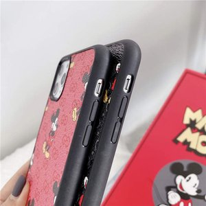Fashion Designer mobile Phone Cases coque for iPhone 11 11pro 11promax Xr Xs MAX 6 7 8 Plus Case Famous mice Leather Phone Shell Back Cover