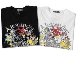 Мода Designered Мужские рубашки Роскошные футболки Мужчины Женщины заклеймили Top тройники Лето с коротким рукавом Hip Hop Mens Streetwear 290