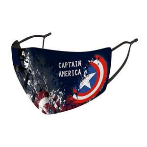 máscara designer de rosto crianças máscara montando protecção fria novo Homem-Aranha Batman super-herói escudo capitão máscara criança punidor deadpool maravilha DHL