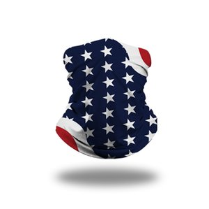 8 Styles Bandana Face Mask 3D USA Flag Magic Scarves Outdoor Sports Headband Turban Headscarf Cycling Face Masks CYZ2552 200Pcs
