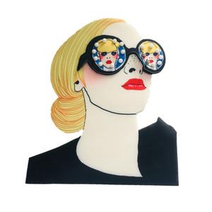 10 adet Baskılı serin eğilim üç boyutlu gözlük kız sıcak baskı yamalar bez termal transfer 3D giyim dekorasyon yamaları yapıştırın