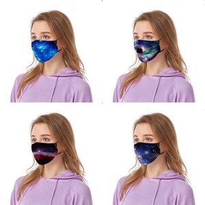 Fasion Fa Mask Stampato Stampa mascherina mascherine Breatable donne unisex riutilizzabile Wasable bicicletta Dener Stampato Fa Mask # 701 # 371