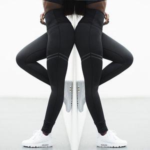 Yoga Leggings Femmes Sport Pantalon de survêtement d'entraînement Femme Porter Striped haute taille élastique Collants Pantalons sans couture femme Leggings de yoga