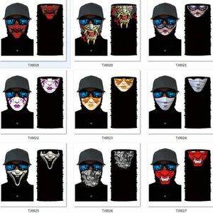 새로운 할로윈 마스크 해골 머리띠 다기능 원활한 여성들의 머리 수건 착용 변수 매직 스카프 스포츠는 새로운 할로윈 groothandel 파티 마스크 마스크