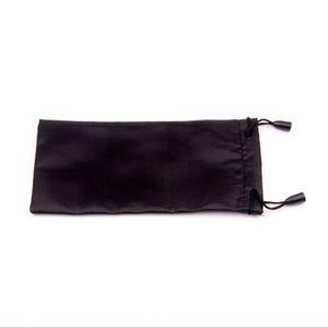 Siyah kumaş demeti ağız ince fiber güneş bez güneş saklama torbası güneş gözlüğü güneş gözlüğü saklama torbası