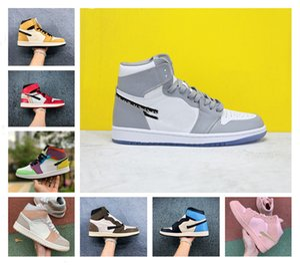 Polvere 2020 scarpe da basket Mens sporco 1S alta OG Obsidian UNC a Chicago Pine Turbo verde Bloodline uomini 1 jumpman Donne Sport scarpa da tennis