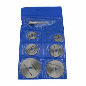 6 Sägeblatt High-Speed-Stahl-Rund Drehflügelrad Discs Mandrel Für Werkzeuge Holz Kappsäge mLXQ #