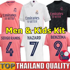 Tailandia Real Madrid camisetas de fútbol PELIGRO 2019 2020 SERGIO RAMOS ASENSIO Camiseta de futbol 19 20 MARCELO Deportes EA Hombres Mujer Kit de niños camisetas