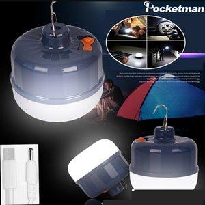 Ev Asmak için Açık barbekü Camping Powered 7200mAh Taşınabilir LED Kamp Işık USB Şarj edilebilir Acil Işıklar