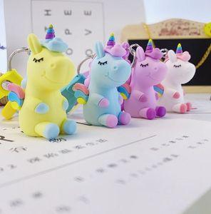 PVC Three-dimensional Soft Rubber Keychain Dream Cartoon Animal Customization Creative 3D Doll Animal Bag Pendant EEA1861