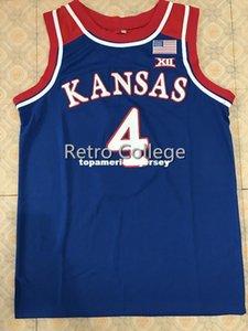 # 4 Devonte Graham Канзас Джайховкс KU Top Basketball Jersey All Размер вышивки прошитой Настроить любое имя и имя XS-6XL жилет трикотажных изделий NCAA