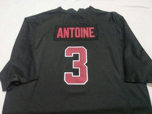 Men Stanford Cardinal Malik Antoine #3 real Full embroidery College Jersey Size S-4XL or custom any name or number jersey