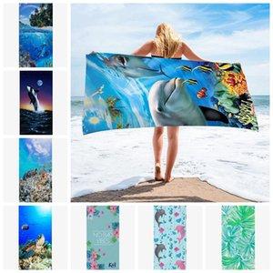 Beach Dry Microfiber Towel Towels Plus Size Quick Bath Towel DW4982 Designs Beach Ocean Women Swimwear Robes 20 Cover Bathroom Girls Jklic
