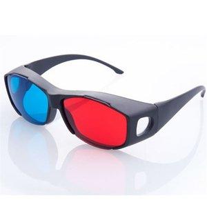 ANEWKODI Mode Universal-3D Gläser / Rot Blau Cyan 3D-Brille Anaglyph 3D-Kunststoff-Sonnenbrille-Brille