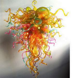 Free Shipping 100% Hand Blown Artistic Lamp Dale Chihuly Style Modern Chinese Crystal Blown Glass Chandelier