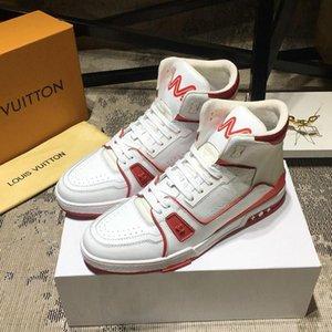 Lusso Stile Scarpe Uomo Casual con le scarpe da origine Fashion Box scarpa da tennis Boot Lace-Up High Top Mens Chaussures Vintage pour hommes Luxur