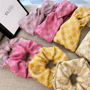 Lettera Moda INS anelli delle donne dei capelli del ricamo dell'annata Lady fascia 4 colori alla moda femminile fasce dei capelli di gomma