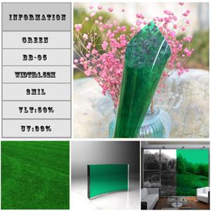 1.52x10m Grüne Farbe Dekoration Window Film Datenschutz Heat Control Solar-Tönungsfolie Partei Weihnachtsdekoration DIY Glas-Aufkleber