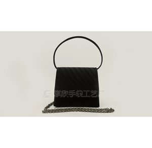 Satin satin pleated Evening gown Hand Hand trimming style evening dinner bag handbag QX15038-4 small size