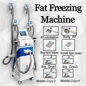 Cryolipolysis Fat Freezing Slimming Weight Reduce Machine Vacuum Rf 40Khz Cavitation Ultrasonic Lipo Laser Cryotherapy Skin Tightening