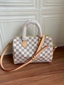 2020 hot classic colors brwon letter logo leather women handbag fashion men leather shouler bag free shipping 25-19-15cm M40390 07