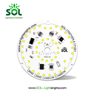 0-10V Dimmable LED ronde Dimmer Module haute quity SMD 2835 15 20W blanc pour LED